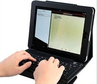 Wireless Bluetooth Keyboard Leather Case for The New iPad 3 iPad 2