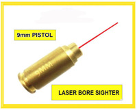 9mm Bore Sighter 9 mm Laser Boresighter Red Laser 9mm Brass Cartridge