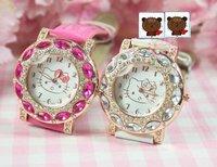 Fashion Watch Quartz watch Hello Kitty Watch Women Watch Wristwatch for lady 10pcs