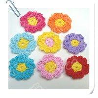 Hand crochet cotton flower x 80pcs shipping free
