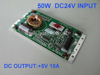 50W  Bus LED Display Power Supply 5V10A Output,DC12~36V Output