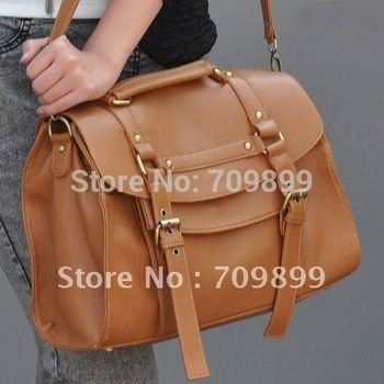 Fashion Britpop Women's PU Leather Purse Handbag Messenger Satchel Shoulder Bag Retro shopping bag for Ladies B064