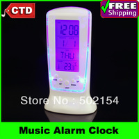 Free Shipping High-quality With Cost Price Square Clock 510 Blue Backlight Music Alarm Clock