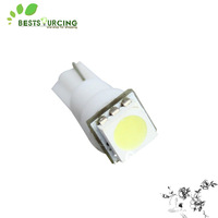 Free shipping Wholesale 10pcs/lot  T5 1 SMD white car light lamp