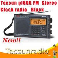 Free Shipping by DHL Retail-WholesaleTecsun pl600 FM  radio Stereo pl-600  fm Radio  clock radio