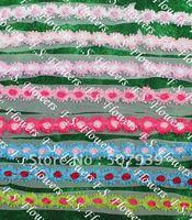 5CM chiffon rose trim,chiffon flower trim,chiffon flowers,hair accessories,60 yards/lot,10 instock colors for free selection