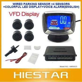 Car parking sensor LCD Display VFD Car Reverse sensor kits 4 sensors