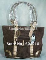 Top Grade Suede Leather, Ladies handbag,2012 Fashion design shoulder bag,multi-use leather bag