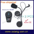 Free Shipping+HOT SALE+Guaranteed 100%! 500M Motorcycle / Bike  Helmet Bluetooth Headset 800M intercom