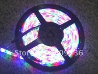 ffree shipping! High quality! DC12v waterproof (Ip65) RGB smd3528 led Flexible strip light 300led /5m 60led/m 24w