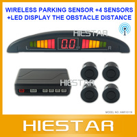 Wireless Parking Sensor with 4 sensors LED Display the obstacle distance