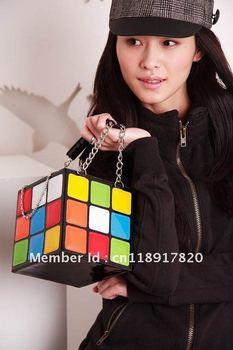 New Women Girl's Cute Magic CUBE Bag Handbag Purse B178680