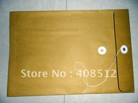 500pcs 9x12 inches fit for A4 size Kraft Paper document bag/envelope with string