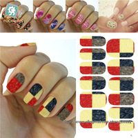 wholesale Excellent Water Transfer Nail Art beauty Full Wraps Tattoo Nail Stickers Decoration Patch 200packs/lot free shipping