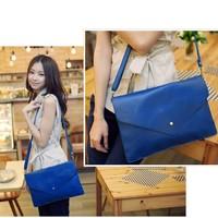 Lady's Stylish Fashion Envelope Handbag Clutch leather Shoulder Bag Free Shipping 3138
