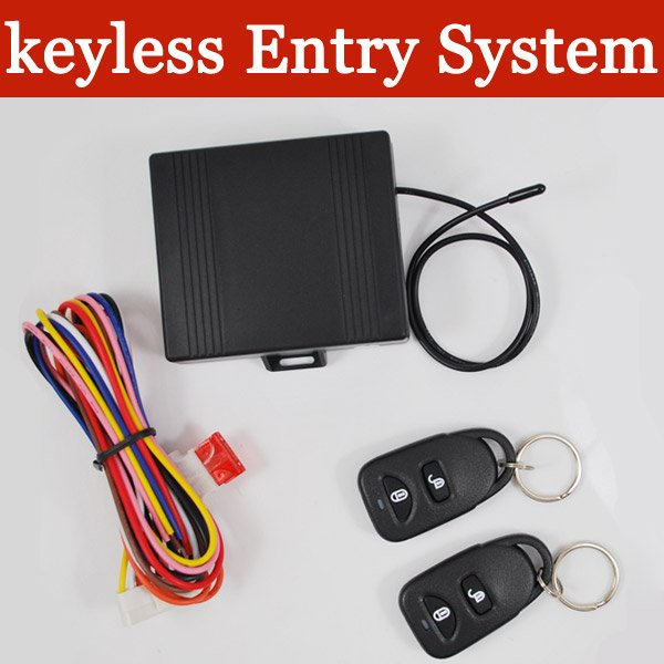 Hot selling universal car keyless entry system remote car alarm security products free shipping(China (Mainland))
