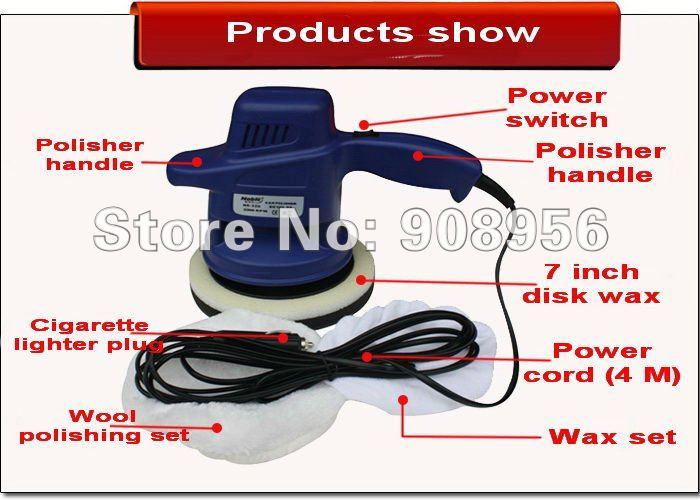 "Car Care Tools DC12V 7"" car wax polishing machine 326 ,car waxer,hand tool,1pc DHL free shipping(China (Mainland))"