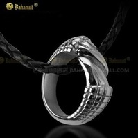 Dragon Tail Dragon Talon Titanium Steel Ring Necklace Pendant Free With Chain Men's Jewelry