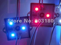2 strip/ lot 5050 SMD 3 LEDS 0.72 W metal shell module Waterproof IP65 DC12V, 20 pcs 60 LEDS LED module Reasonable freight