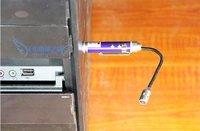 Wholesale  promotion 40pcs/lot  mini flashlight torch with flexible head  repair flashlight , red,blue,black Model 004