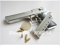 Free shipping 1/2.5 metal simulation Desert Eagle handgun police pistol toy gun model(China (Mainland))