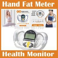 Digital Body Fat Analyzer Meter Health Monitor BMI Mass Index Handheld Calorie hand fat meter free shipping