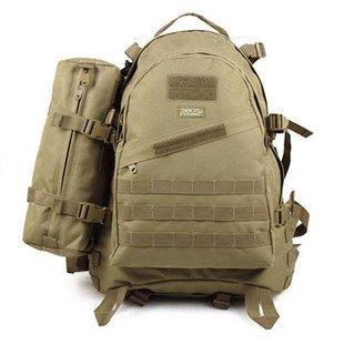 ROGISI Camping  MOLLE Tactical Light Assault Bag +Computer Compartment Size:49*36*17CM 15*35*11CM 14 INCH 600D  Zipper:SBS