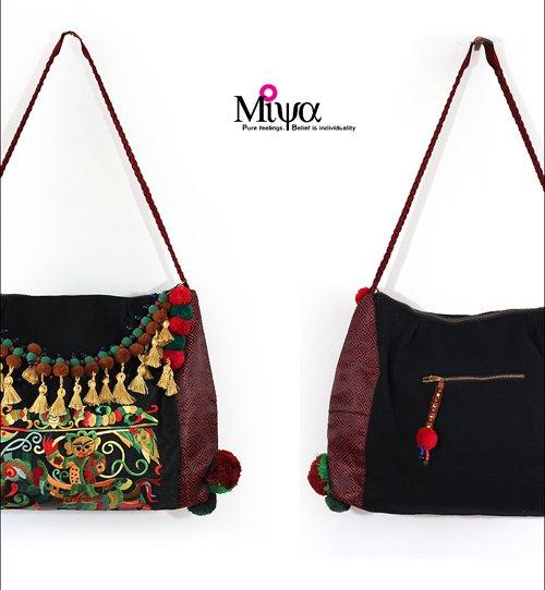 Designer Handbags India Style Embroidered Tassel Bag Thai Embroidery Shoulder Bag Vintage Hiltribe Bag(China (Mainland))