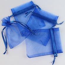 50 Pieces Royal Cobalt Blue 3 x 3 5 7cm x 9cm Strong Sheer Organza Pouch