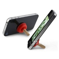 Free Shipping 100pcs/lot Mini Plunger Sucker Stand Holder for iPhone 3G/3GS/4G/4S iPod Touch (Red)