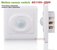 Cheap AC110-220V Infrared Save Energy Motion PIR Sensor Automatic Lighting Switch (BS017 2pcs)