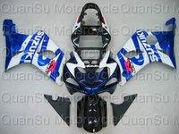 EMS Free SUZUKI GSX-R1000 00-02 GSXR1000 2000-2002 Fairing    107 blue black  white