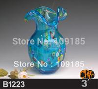 Hand Blown Traditional Murano Art Glass Vases