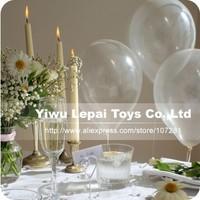 100pcs/lots wholesales 12 inch 2.2 gram round shape crystal clear balloons , transparent balloons ,latex balloons