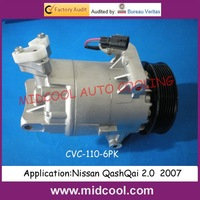CVC COMPRESSOR FOR Nissan QashQai 2.0  2007(92600JD200)