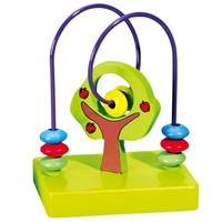free shipping Children's Educational toys apple around beads wood plane   #2074