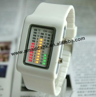 100pcs/lot, silicone binary flashing LED watch,3colors available cheap silicone watch.