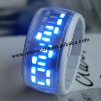 100pcs/lot,ODM bracelet LED watch,fashion luminous watch,various shell colors available.