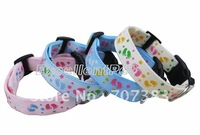 Free shipping 20pcs blue/pink /white/orange 4 color  nylon dog collar for big dog
