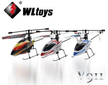 wlv9114ch2.4ghzのミニラジオシングルプロペラ/単一のブレードwlv911rtfrcのヘリコプターのジャイロ