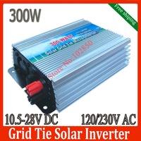 Free shipping Solar PV On Grid Inverter DC10.5-28V to AC110V/220V 300W Solar Grid Tie Micro Inverter