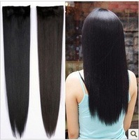"High-quality,22"" INDIAN REMY HAIR CLIP IN EXTENSION,(black#2,light brown#2t30,deep brow#2t33),Free Shipping"