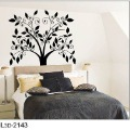 Free Shipping:European-Style Wall Art 1 Set=5.99USD Black Flower Tree 3D Sticker DIY Decoration Fashion Wall Sticker
