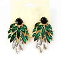 Free shipping! Individuality fashion stud earrings, Crystal earrings for women, Trendy jewelry!