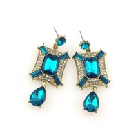 Free shipping! Newest design stud earrings, Noble crystal earrings for women, Excellent gift!