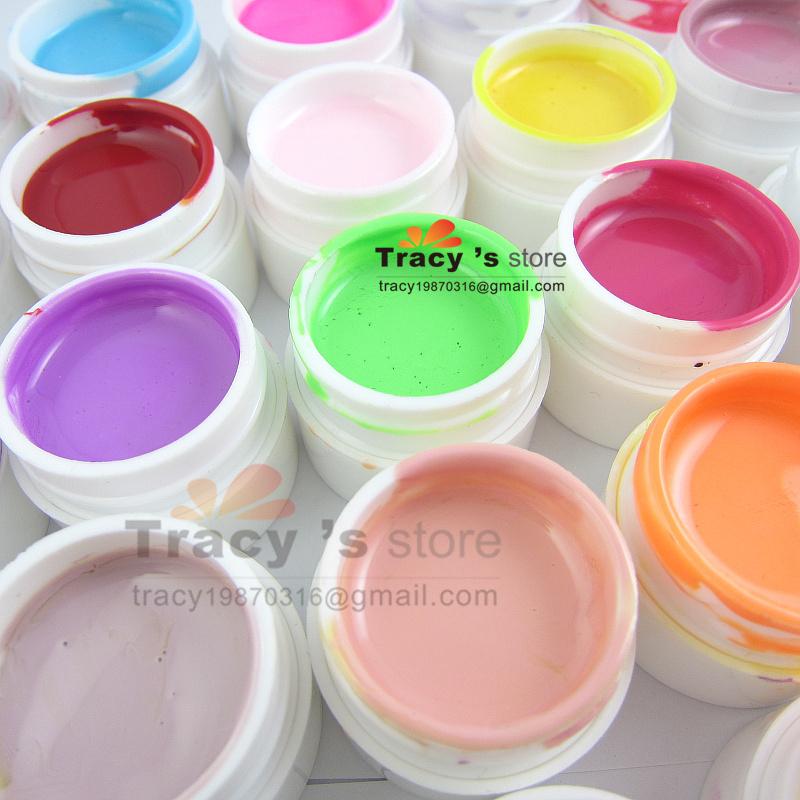Free Shipping 30 Color Mix Pure Pigment NAIL Art Solid UV BUILDER GEL Kit Set 8ml/jar for Fingernail Desgin Manicure wholesale(China (Mainland))