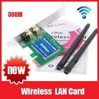 Wireless LAN Card Network Adapter Wifi Adpter 11N PCI-E 300M Wireless Wifi Receiver Free Shipping+Retail box