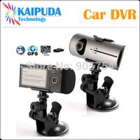 "Car DVR X3000, 2014 New Design Dual Lens Car Camera with 2.7"" LCD + GPS Logger + 3D G-Sensor + FreeShipping !"