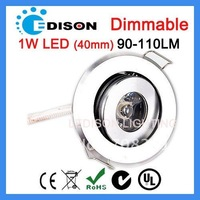 1W led light SAA UL approved dimmable with 40mm hole