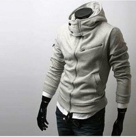FREE SHIPPING New Men's Slim FIT Coat Jacket Sexy Top Designed Zip up Mens Hoodies Jacket Coat 4 Colour US Size XS,S,M,L  0024